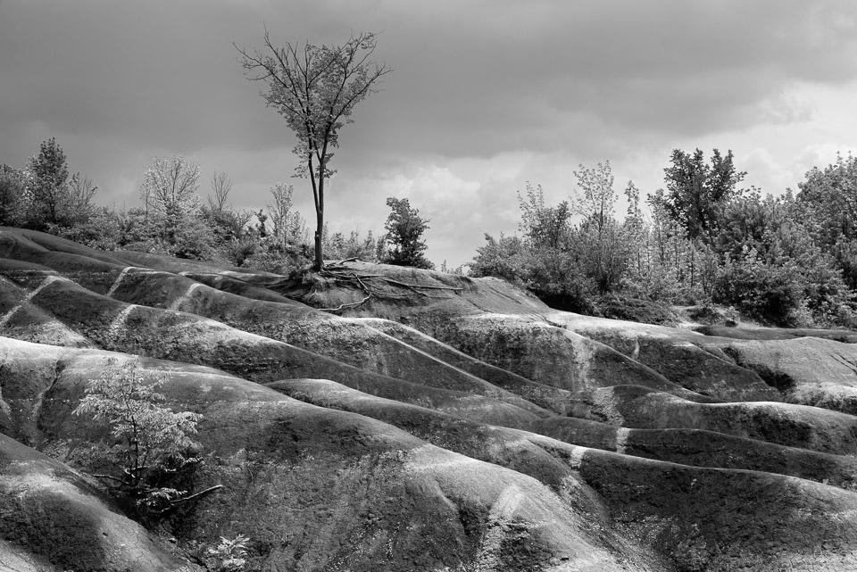 Badlands Storm, Cheltenham Badlands, Caledon, Ontario, Canada