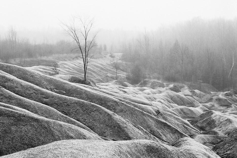 Cheltenham Badlands winter landscape, Caledon, Ontario, Canada, 2006