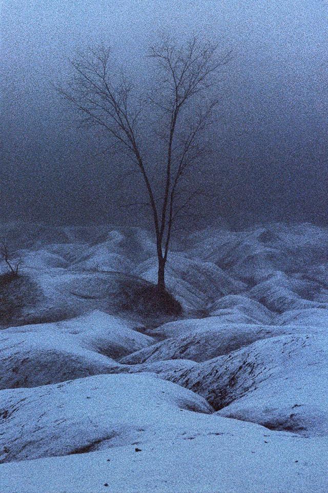 Cheltenham Badlands blue snow, Caledon, Ontario, Canada