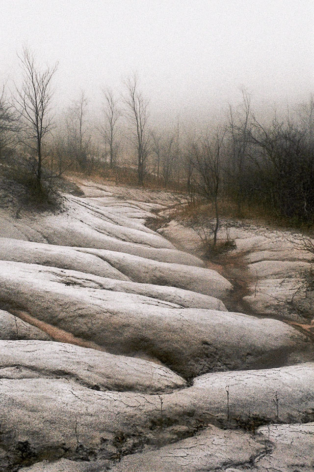 Cheltenham Badlands light snow, Caledon, Ontario, Canada