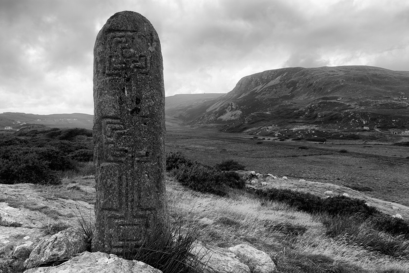 Irish Christian Standind Stone Black and White Fine Art Photography