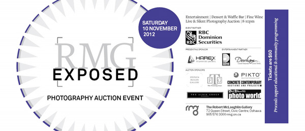 The Robert McLaughlin Gallery Exposed exhibition and live auction 2012