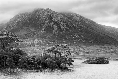 Connemara-Ireland-Lake-Mountains-Trees-panorama-black-and-white-fine-art_v3.jpg